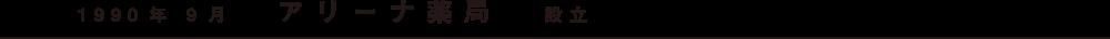 1990年9月 アリーナ薬局設立